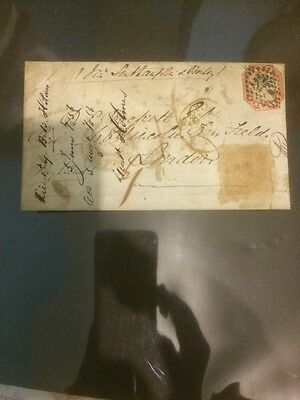 1854 Br. India 4as. stamp cancel Cover India Paid could be Rare?