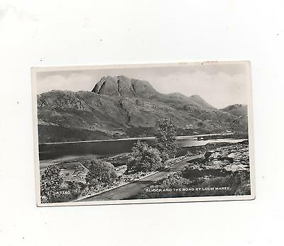 Slioch and The Road By Loch Maree,Ross-Shire,RPPC (J.B.White) 1957