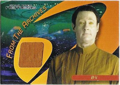 BRENT SPINER as B4 2004 STAR TREK FROM ARCHIVES COSTUME MATERIAL SWATCH C21
