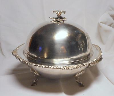 Beautiful Antique Silver Plate Muffin/warming Dish~Gadroon & Shell Edge~Hutton
