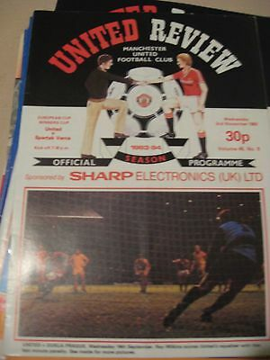 1983-84 MAnchester United v Spartak Varna Cup winners Cup 2.11.1983