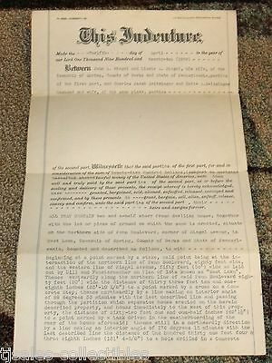 1922 Indenture Deed Riegel Seitzinger Spring Township Berks County PA Document