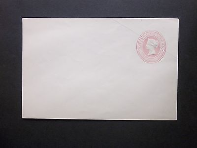 GB Postal Stationery P.O Issue 1841 QV 1d Pink Envelope size F silk thread paper