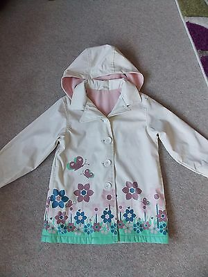 MOTHERCARE Girls Raincoat age 7-8 Years WATERPROOF FLEECE LINED Great Condition