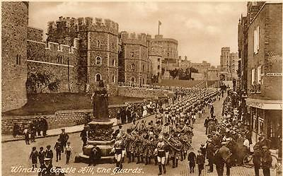 WINDSOR The Guards on Castle Hill Berkshire old Frith Postcard unused 1938