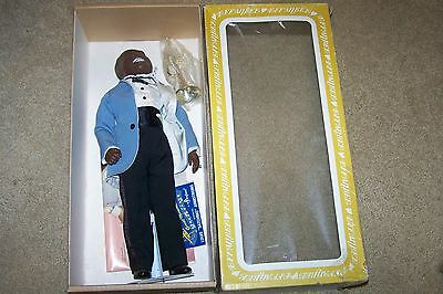 Effanbee #7661 LOUIS ARMSTRONG AA Doll 1984 Trumpet Original Box  SATCHMO