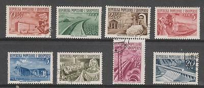 ALBANIA - 1953 Pictorials - Set of 8, MH & Used (CTO)
