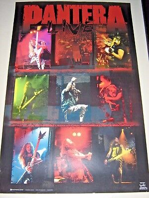 """Pantera - Orig. vintage Poster / Live collage / #7576 / Exc.+ New Cond.- 22x34"""""""