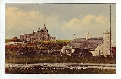 Hotel And Last House In Scotland John O' Groats Photo Taken 1951 Valentines