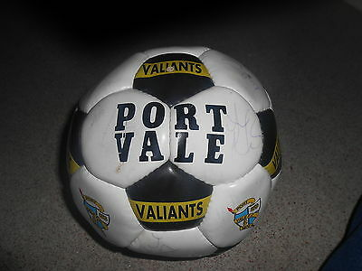 Port Vale Signed Football From 1999-2001 (Vg Condition)