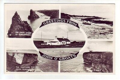 Last House In Scotland John O' Groats Caithness 1936 Real Photograph Valentines
