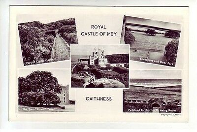 Royal Castle Of Mey Caithness Real Photograph J Adams Old Postcard Unposted