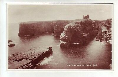 The Old Man Of Wick Caithness Real Photograph Published 1938 Old Postcard (4)