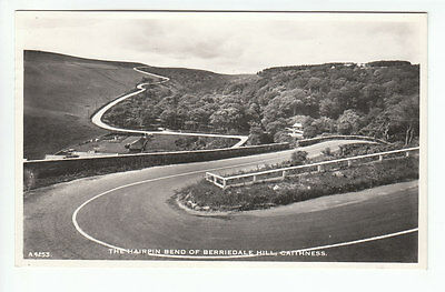 Hairpin Bend Of Berriedale Hill Caithness Real Photograph 29 Aug 1958 Barrow