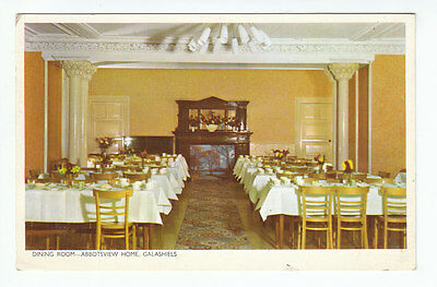 Dining Room Abbotsview Home Galashiels Selkirk (Demolished 1984) 10 May 1966