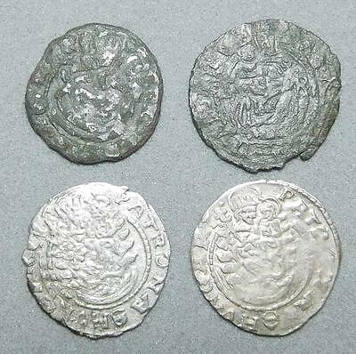 *HHC* Lot of 4 Mathias II Silver Denar from Hungary, 1600's