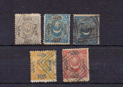 Turkey 1865 Used Lot ( 5 )