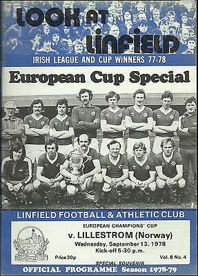 Linfield v. Lillestrom (Norway) - european cup 1978