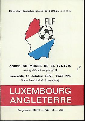 Luxembourg v. England - World Cup qualifier 1977