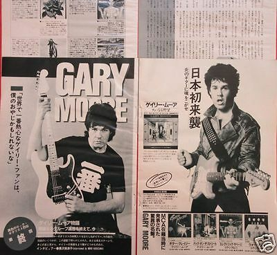 Gary Moore 1983 Clipping Japan Magazine Os 2A 7Page