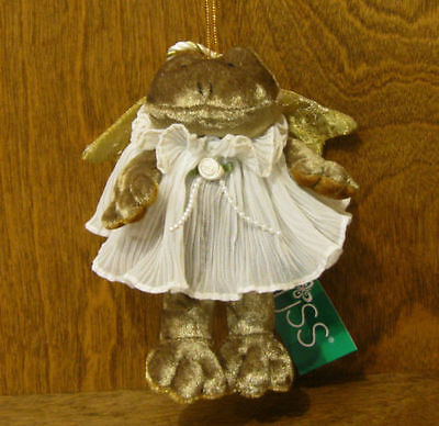 """Russ Berrie Plush #2047 ANGELIQUE 6""""  Frog From Retail Store Mint/tag, Ornament"""