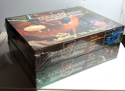 Babylon 5 Collectible Card Game Boxed Campaign Sets 1 & 2- All 4 Races- SEALED