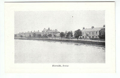 Riverside Irvine Ayrshire Early 1900's Davidsons Silver Tone Series Old Postcard