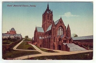 Coats Memorial Church Paisley Photo Taken 1895 Card Published 1919 Valentines