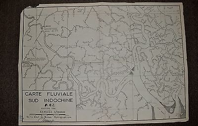 1954 - Sud Indochine - FRENCH MAP - A02 - VAI CO RIVER OPS, Vietnam War - 172