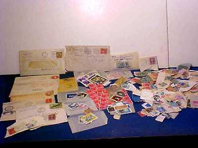 Lot With Over 100 Collector Postage Stamps & Envelopes With Stamps