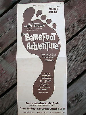 vintage surf movie poster surfboard two sided bruce brown surf o rama rare don b