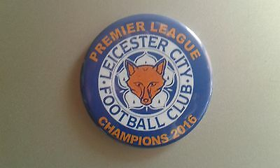 LCFC Leicester City FC 2016 PL Champions 58mm round fridge magnet - Foxes