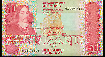World Paper Money 50 Rand  South Africa  Note Lower Grade Note  (M930)