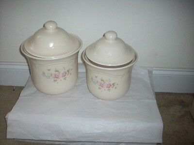 "Pfaltzgraff ""tea 2 Piece Canister Set With Lids"