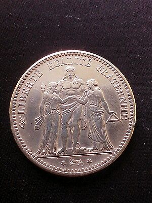 1875-A 5-Francs, France- Silver !! Better Date