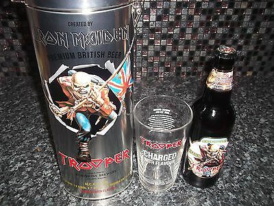 Iron Maiden Trooper Beer Limited Edition Metal Tin / Bottle / Pint Glass