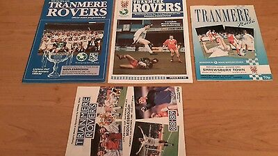 4 - Tranmere Rovers Programmes 1988 - 1992