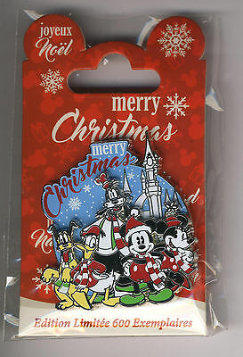 Disneyland Paris Disney Pin Merry Christmas 2016 Limited Edition Only 600 New