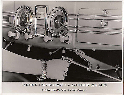 Ford Taunas Spezial 1950 Model Dashboard, Period Photograph.