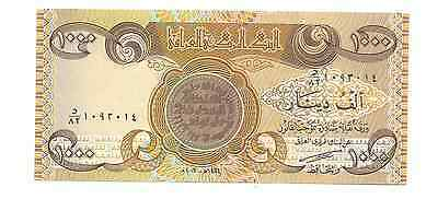 ND Central Bank of Iraq 1000 Dinars Foreign World Banknote