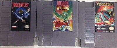 Nintendo NES 3-Game Lot - Final Fantasy, Cybernoid, and Dragon Warrior