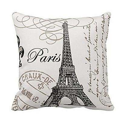 Tower Sofa Bed Home Decoration Festival Pillow Case Cushion Cover Eiffel Tower