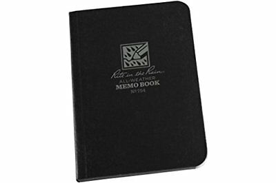 """Rite in the Rain All-Weather Soft Cover Pocket Notebook, 3 1/2"""" x 5"""", Black New"""
