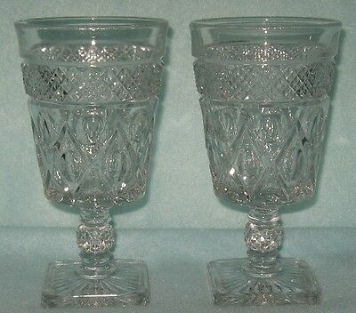 Imperial Cape Cod 2 Water Goblets 8 Ounce 6 1/4""