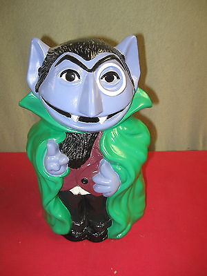 Sesame Street Cookie Jar Count Von Count California Original 1970's Rare