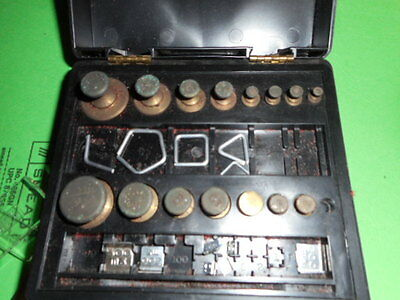 Vintage Ohaus Scale Corp Pharmacy Scale Balance Weight Calibration Set