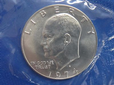 1974 S $1 Silver Ike Dollar Eisenhower Coin Uncirculated Type 2