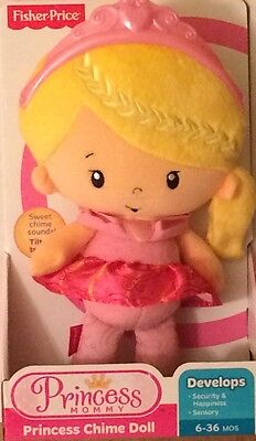 NIB Fisher-Price Princess Mommy Chime Doll Pink