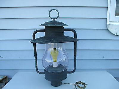 Large Artolier Hanging Lantern Outside Light Fixture Re-Wired