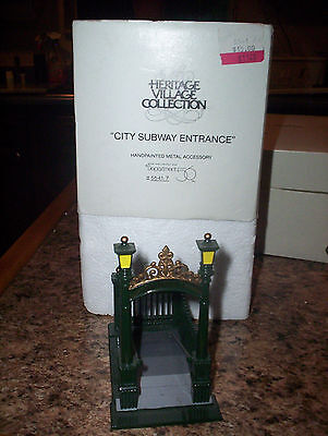 DEPT 56 -Lot of 4 Village Accessories-Subway, Chain Link, Telephone Poles, Light